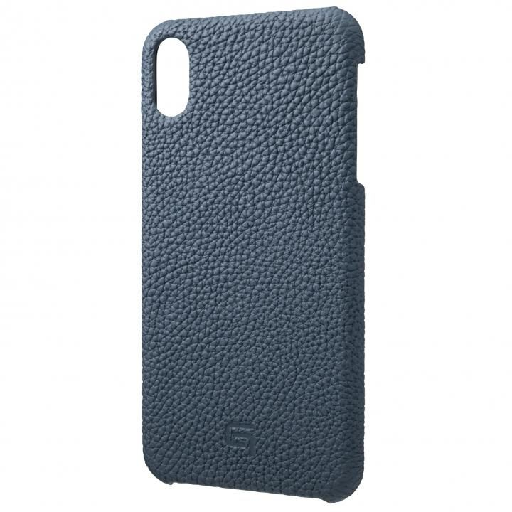 iPhone XS Max ケース GRAMAS German Shrunken-calf Genuine Leather Shell Case ネイビー iPhone XS Max_0