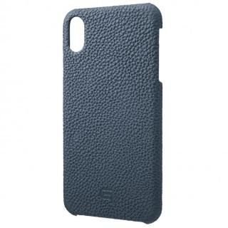 iPhone XS Max ケース GRAMAS German Shrunken-calf Genuine Leather Shell Case ネイビー iPhone XS Max【10月下旬】