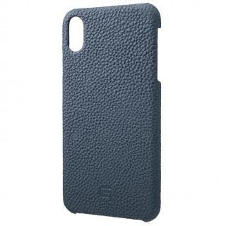 iPhone XS Max ケース GRAMAS German Shrunken-calf Genuine Leather Shell Case ネイビー iPhone XS Max