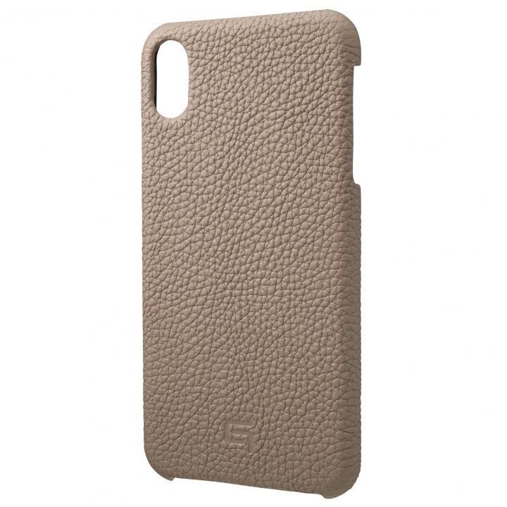 iPhone XS Max ケース GRAMAS German Shrunken-calf Genuine Leather Shell Case トープ iPhone XS Max_0