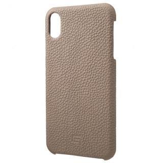 【iPhone XS Maxケース】GRAMAS German Shrunken-calf Genuine Leather Shell Case トープ iPhone XS Max