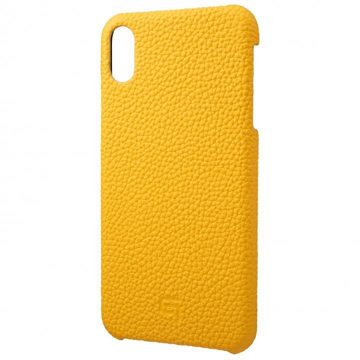iPhone XS Max ケース GRAMAS German Shrunken-calf Genuine Leather Shell Case イエロー iPhone XS Max_0