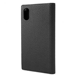 【iPhone XSケース】GRAMAS German Shrunken-calf Genuine Leather Book Case ブラック iPhone XS【11月下旬】