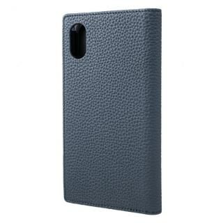 【iPhone XS/Xケース】GRAMAS German Shrunken-calf Genuine Leather Book Case ネイビー iPhone XS/X【2月下旬】