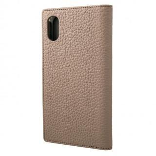 iPhone XS/X ケース GRAMAS German Shrunken-calf Genuine Leather Book Case トープ iPhone XS/X