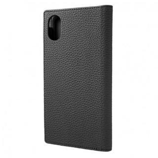 iPhone XR ケース GRAMAS German Shrunken-calf Genuine Leather Book Case ブラック iPhone XR
