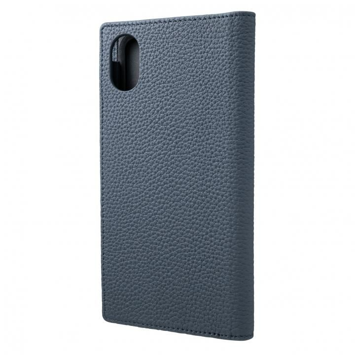 iPhone XR ケース GRAMAS German Shrunken-calf Genuine Leather Book Case ネイビー iPhone XR_0