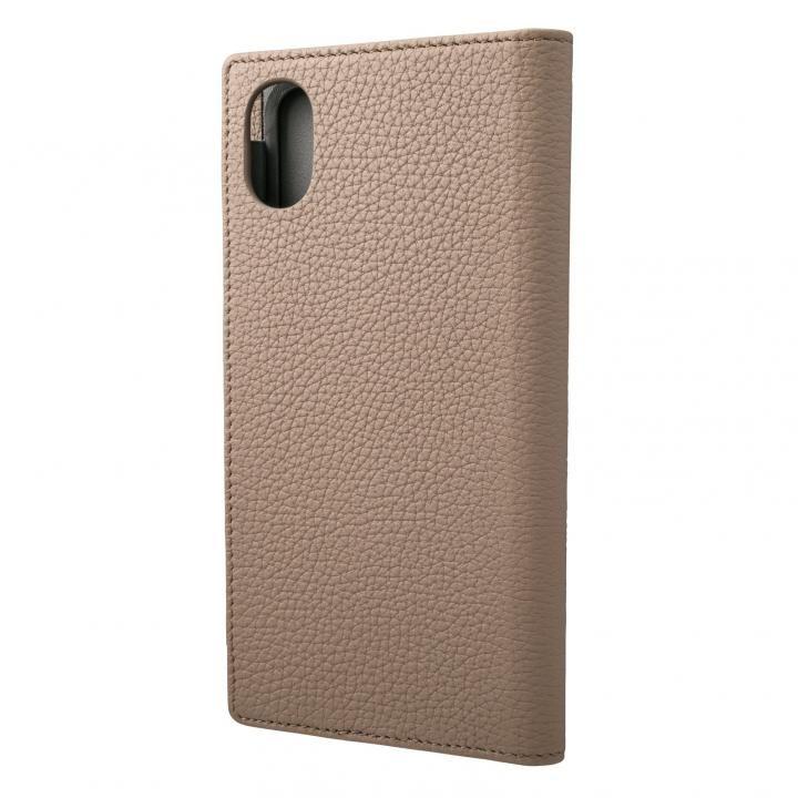 iPhone XR ケース GRAMAS German Shrunken-calf Genuine Leather Book Case トープ iPhone XR_0