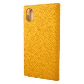 【iPhone XRケース】GRAMAS German Shrunken-calf Genuine Leather Book Case イエロー iPhone XR【12月中旬】