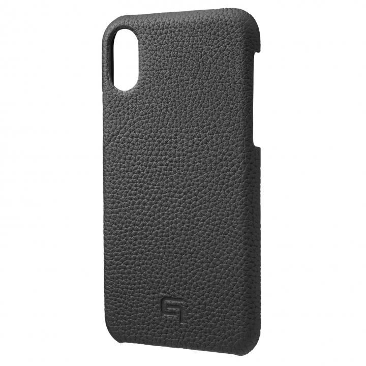 iPhone XS/X ケース GRAMAS German Shrunken-calf Genuine Leather Shell Case ブラック iPhone XS/X_0