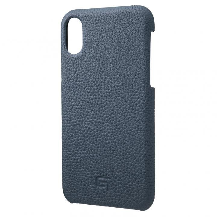 iPhone XS/X ケース GRAMAS German Shrunken-calf Genuine Leather Shell Case ネイビー iPhone XS/X_0