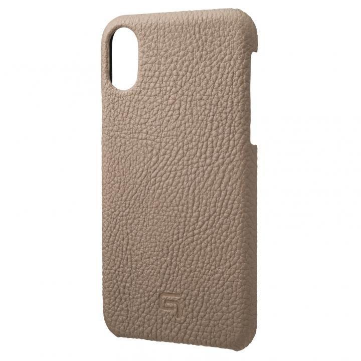 iPhone XS/X ケース GRAMAS German Shrunken-calf Genuine Leather Shell Case トープ iPhone XS/X_0
