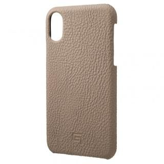 iPhone XS/X ケース GRAMAS German Shrunken-calf Genuine Leather Shell Case トープ iPhone XS/X【5月中旬】