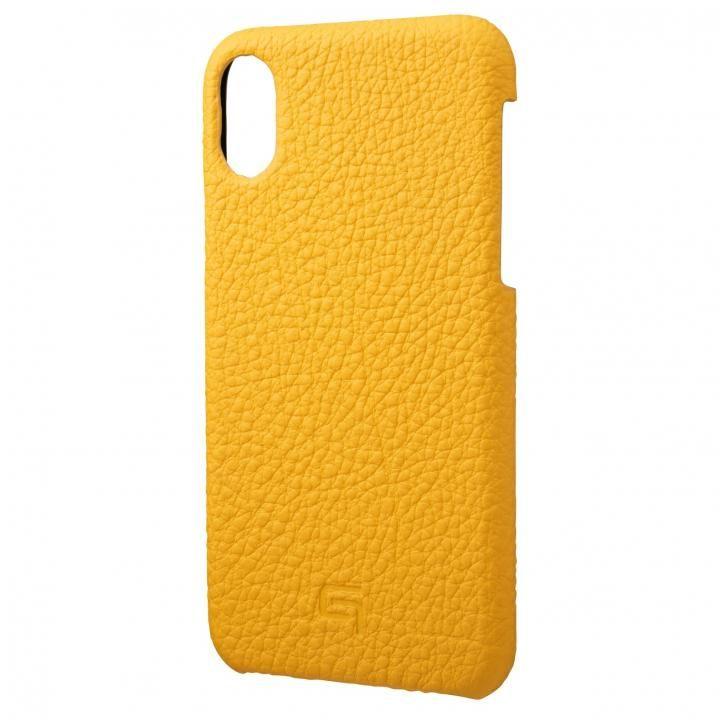 iPhone XS/X ケース GRAMAS German Shrunken-calf Genuine Leather Shell Case イエロー iPhone XS/X_0