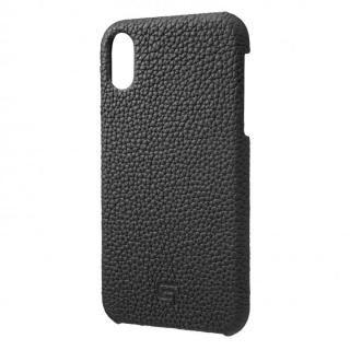 iPhone XR ケース GRAMAS German Shrunken-calf Genuine Leather Shell Case ブラック iPhone XR