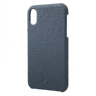 iPhone XR ケース GRAMAS German Shrunken-calf Genuine Leather Shell Case ネイビー iPhone XR