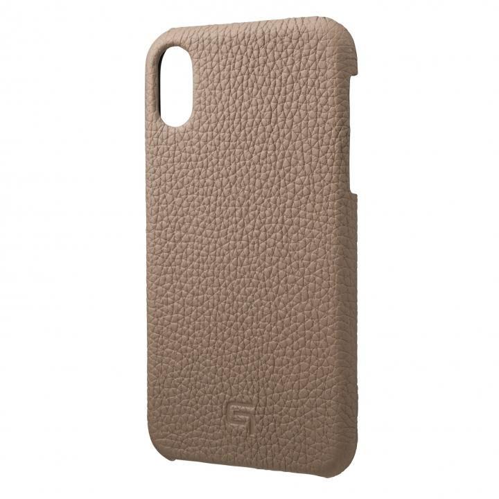 iPhone XR ケース GRAMAS German Shrunken-calf Genuine Leather Shell Case トープ iPhone XR_0