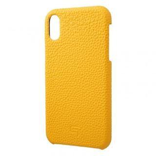 【iPhone XRケース】GRAMAS German Shrunken-calf Genuine Leather Shell Case イエロー iPhone XR