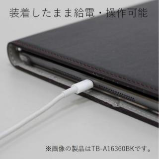 ソフトレザーカバー(360度回転) ブラック iPad Pro 10.5インチ_5