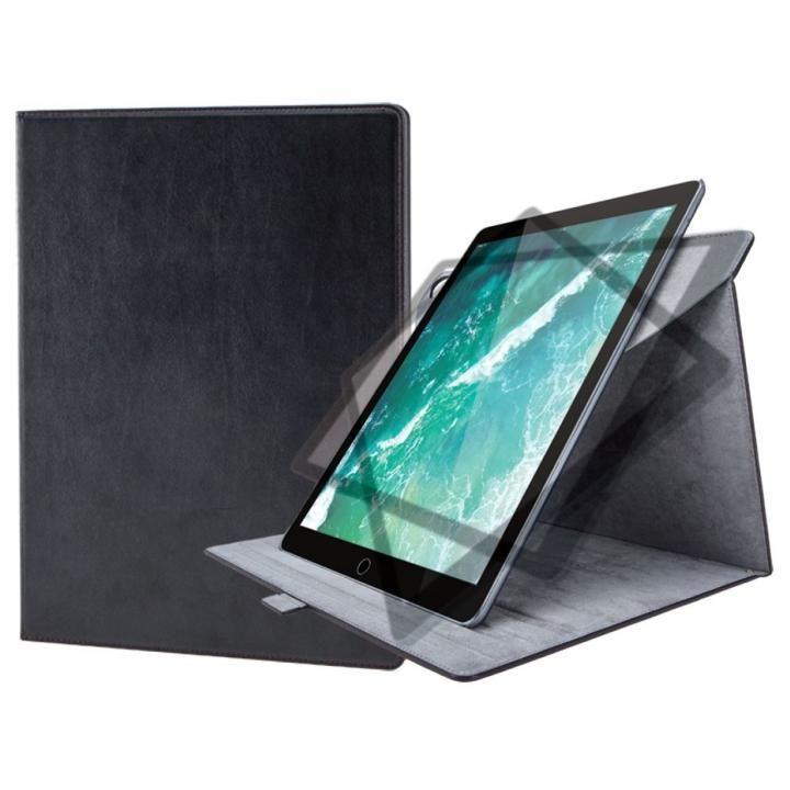 ソフトレザーカバー(360度回転) ブラック iPad Pro 12.9インチ【10月下旬】_0