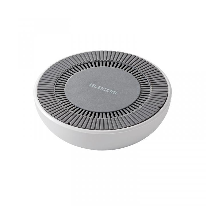 冷却ファン搭載Qi規格対応ワイヤレス充電器 最大出力10W ホワイト_0