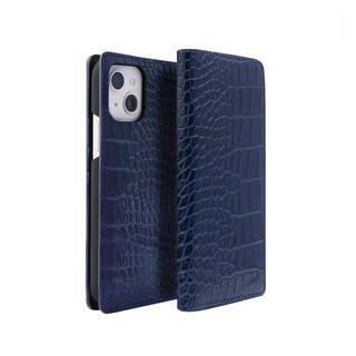 iPhone 13 mini (5.4インチ) ケース クロコダイルイタリアンレザーケース ネイビー iPhone 13 mini 【11月上旬】