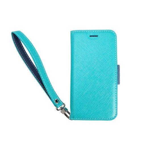 Corallo NU 手帳型ケース ブルー+ネイビー iPhone 8 Plus/7 Plus/6s Plus/6 Plus