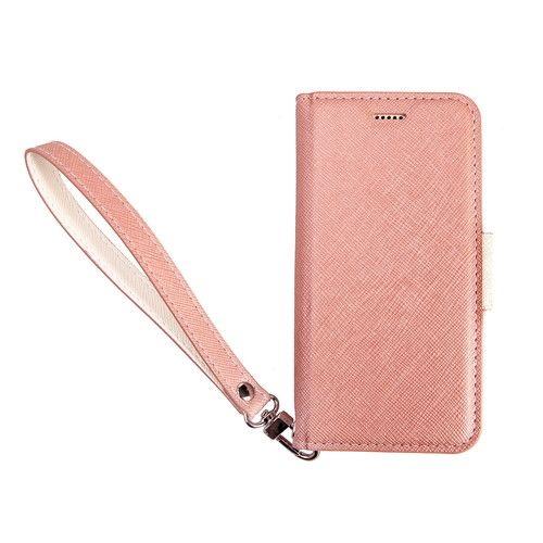 Corallo NU 手帳型ケース シャンパンローズ+ホワイト iPhone 8/7/6s/6