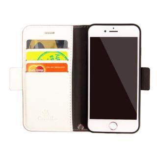 【iPhone8/7/6s/6ケース】Corallo NU 手帳型ケース シャンパンローズ+ホワイト iPhone 8/7/6s/6_3