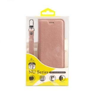 【iPhone8/7/6s/6ケース】Corallo NU 手帳型ケース シャンパンローズ+ホワイト iPhone 8/7/6s/6_4