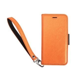 【iPhone8/7/6s/6ケース】Corallo NU 手帳型ケース オレンジ+ブラック iPhone 8/7/6s/6