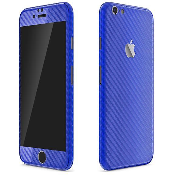【iPhone6ケース】カーボン調 プレミアムスキンシール ブルー iPhone 6 スキンシール_0