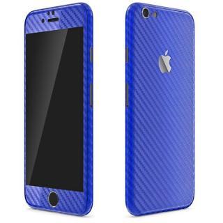 カーボン調 プレミアムスキンシール ブルー iPhone 6 スキンシール