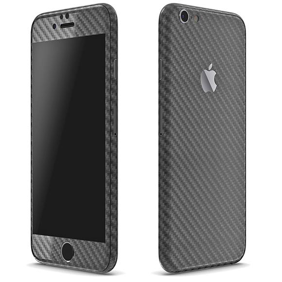 カーボン調 プレミアムスキンシール ガンメタル iPhone 6 スキンシール