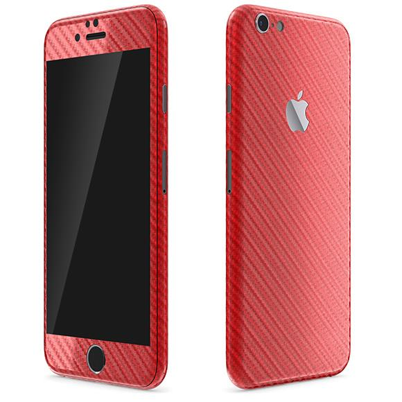 iPhone6 ケース カーボン調 プレミアムスキンシール レッド iPhone 6 スキンシール_0
