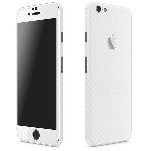 カーボン調 プレミアムスキンシール ホワイト iPhone 6 スキンシール