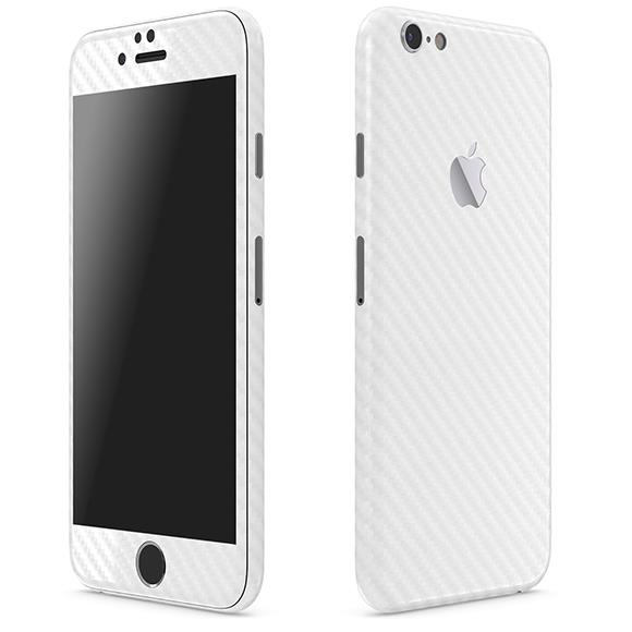iPhone6 ケース カーボン調 プレミアムスキンシール ホワイト iPhone 6 スキンシール_0
