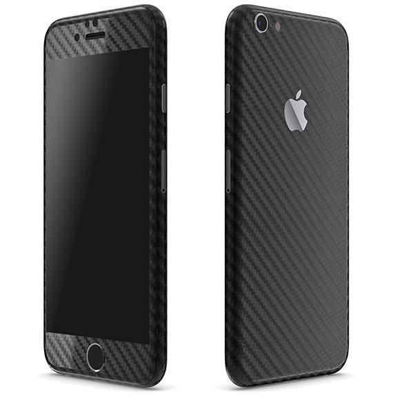 【iPhone6ケース】カーボン調 プレミアムスキンシール ブラック iPhone 6 スキンシール_0