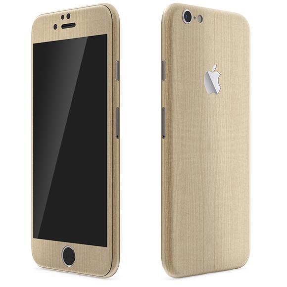 iPhone6 ケース ウッド調 プレミアムスキンシール メープル iPhone 6 スキンシール_0