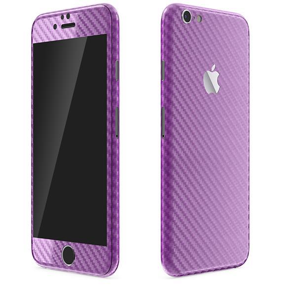 【iPhone6ケース】カーボン調 プレミアムスキンシール パープル iPhone 6 スキンシール_0