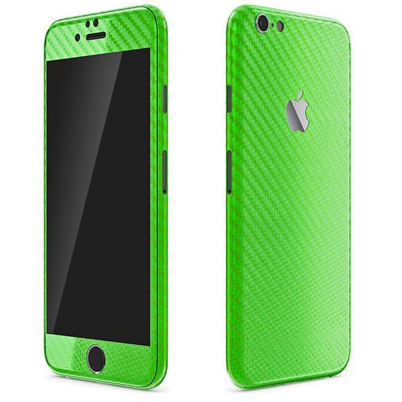 カーボン調 プレミアムスキンシール グリーン iPhone 6 スキンシール