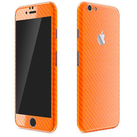 カーボン調 プレミアムスキンシール オレンジ iPhone 6 スキンシール