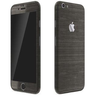 メタル調 プレミアムスキンシール ブラッシュドダークチタン iPhone 6 スキンシール