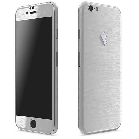 メタル調 プレミアムスキンシール ブラッシュドスチール iPhone 6 スキンシール