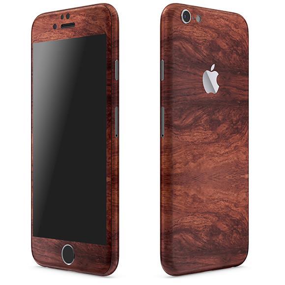 ウッド調 プレミアムスキンシール マホガニー iPhone 6 スキンシール
