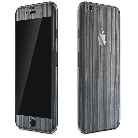 ウッド調 プレミアムスキンシール ダークエボニー iPhone 6 スキンシール