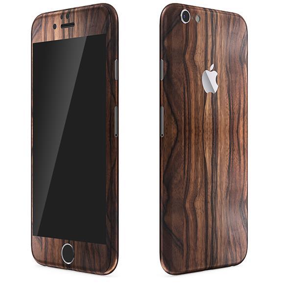 ウッド調 プレミアムスキンシール エボニー iPhone 6 スキンシール
