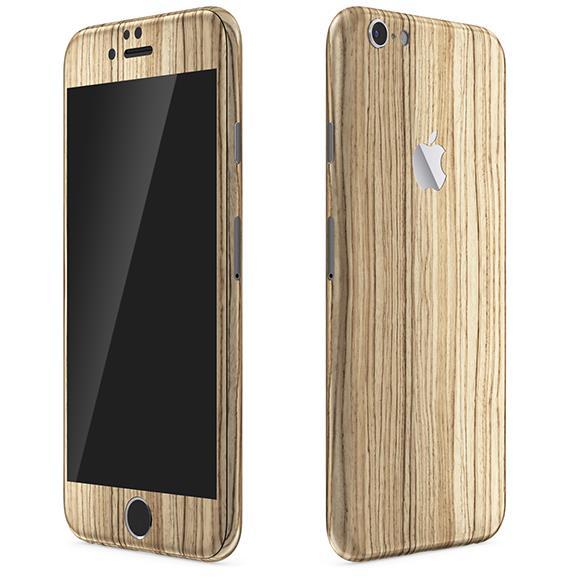 ウッド調 プレミアムスキンシール ゼブラ iPhone 6 スキンシール