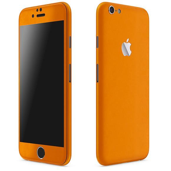 【iPhone6ケース】レザー調 プレミアムスキンシール オレンジレザー iPhone 6 スキンシール_0