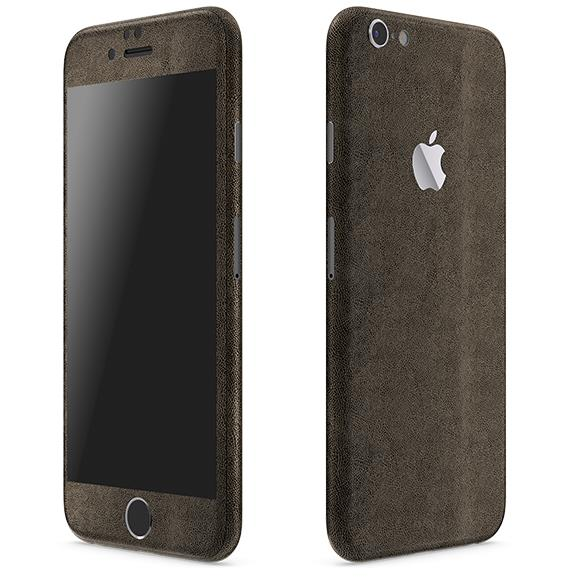レザー調 プレミアムスキンシール ブラウンレザー iPhone 6 スキンシール